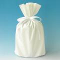 梨地巾着袋 ホワイト