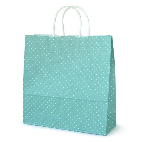 手提袋_水玉ブルー