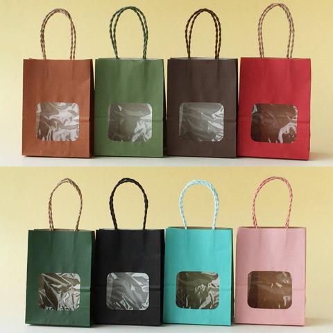 紙袋 ウィンドウミニバッグカラー