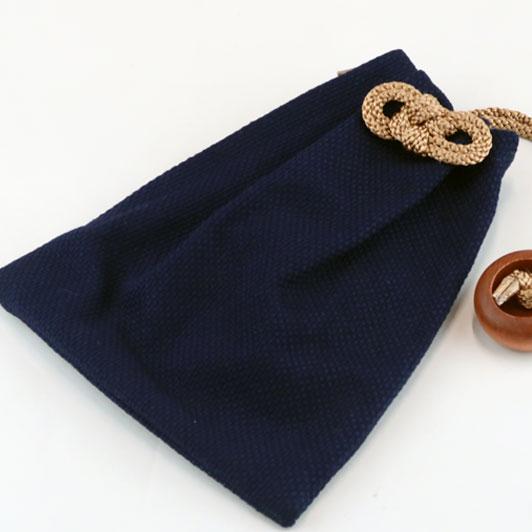 【小粋 藍染刺子】大判(ビックサイズ)巾着