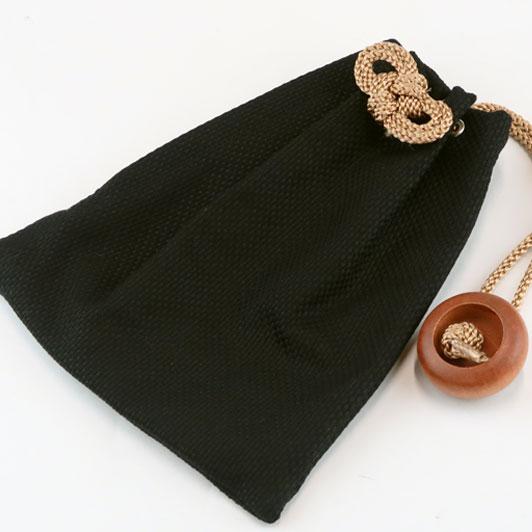 【小粋 黒刺子】大判(ビックサイズ)巾着