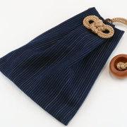 【縦縞藍染】大判(ビックサイズ)巾着