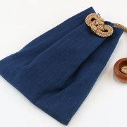 【武州正藍染浅葱縞】大判(ビックサイズ)巾着
