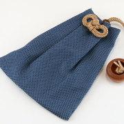 【浅葱本刺子】大判(ビックサイズ)巾着
