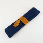 【武州正藍染浅葱縞】笛袋