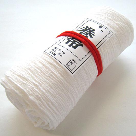 【白】綿楊柳巻帯