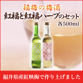 紅福 梅酒・ハーブセット 各500ml