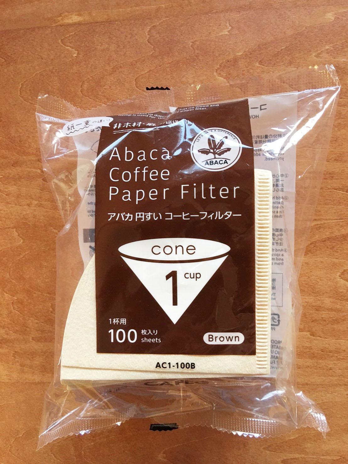 アバカ コーヒーフィルター円錐 100枚入