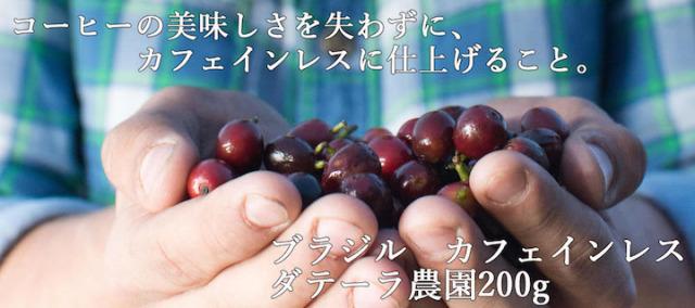 【デカフェ】ブラジル カフェインレス ダテーラ農園200g