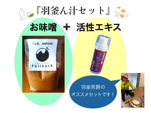 活性エキス+お味噌セット