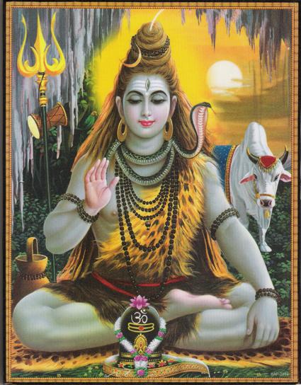 インド神様 壁掛けパネル-畏怖と恩恵の至高神シヴァ