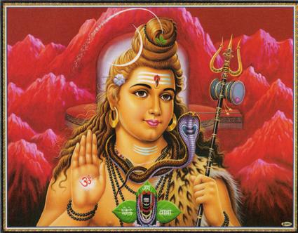 インド神様 壁掛けパネル-破壊と畏怖・恩恵の至高神シヴァ