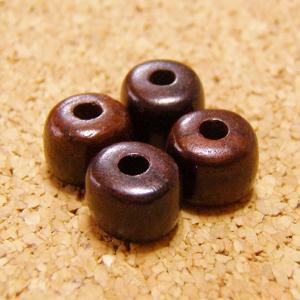[108個+親玉1個セット]高品質:紫檀(シタン)ビーズ-円柱型(小)