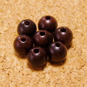 [20個セット]高品質:紫檀(シタン)ビーズ-6mm玉