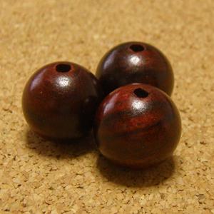 [5個セット]紫檀・シタン14mm玉ビーズ