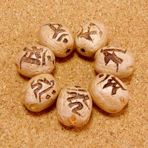 【七梵字】梵字彫刻ビーズ(五眼龍菩提樹)/十二支全対応セット【お得用】