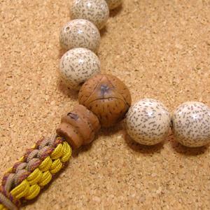 [数珠・念珠]星月菩提樹特大20珠 鳳眼菩提樹 龍眼菩提樹 正絹紐房八本組み