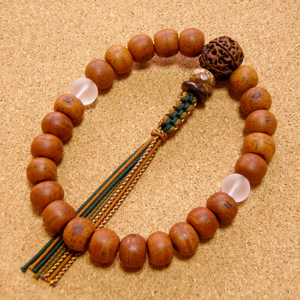 [数珠・念珠]鳳眼菩提樹23珠 金剛菩提樹 曇水晶 ジャスパー 正絹紐八本仕立て