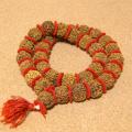 インド菩提樹ルドラクシャ数珠カンタ/スペーサー仕立て(5面・21-22mm)