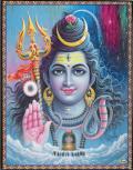 インド神様 壁掛けパネル-破壊と畏怖・恩恵の至高神シヴァ&シヴァリンガ