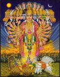インド神様 壁掛けパネル-クリシュナ/バガヴァット・ギーター