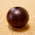 [10粒セット]高品質:紫檀(シタン)ビーズの特大サイズ(20mm)