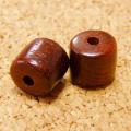 [108個+親玉1個セット]高品質:紫檀(シタン)ビーズ-円柱型(大)