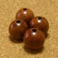 [30個セット]紫檀・シタン12mmビーズ(薄赤紫色)