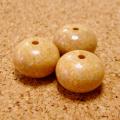 [108個+親玉1個セット]天竺菩提樹ビーズ12.7mm扁平(無垢玉/みかん玉)