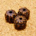 [108個セット]オイル染め-インド菩提樹ルドラクシャ・ビーズ(9-10mm/ブラウン色)