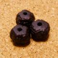 [108個セット]オイル染め-インド菩提樹ルドラクシャ・ビーズ(太鼓玉/9-10mm/黒色)