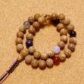【N・Oさま専用窓口】数珠ブレスの特別注文(星月菩提樹・持ち込み7石・紐房4本組み)