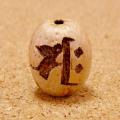 【サク】梵字彫刻ビーズ(五眼龍菩提樹)/守護本尊・勢至菩薩/午年(うま)に対応