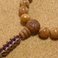 [数珠・念珠]龍眼菩提樹23珠 グリーンゼブラジャスパー 正絹紐房八本組み