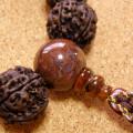 [数珠・念珠]金剛菩提樹20mm16珠 タイガーオパール 曇水晶 正絹紐仕立て