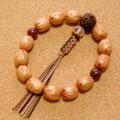 [数珠・念珠]女性へ:五眼龍菩提樹(小粒)13珠 金剛菩提樹 レッドジャスパー 水晶 正絹紐8本仕立て