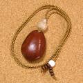世界一大きな豆『モダマ』のチョーカーネックレス#02-星月菩提樹+シルバー925仕立て