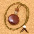 世界一大きな豆『モダマ』のチョーカーネックレス#03-鳳眼菩提樹+水晶仕立て