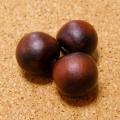 [希少レア:10個セット]赤黒ムクロジの実ビーズ(無患子/数珠起源となる木の実)