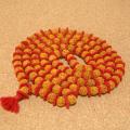 インド菩提樹ルドラクシャのプジャマーラー/数珠ネックレス(5面・9mm)