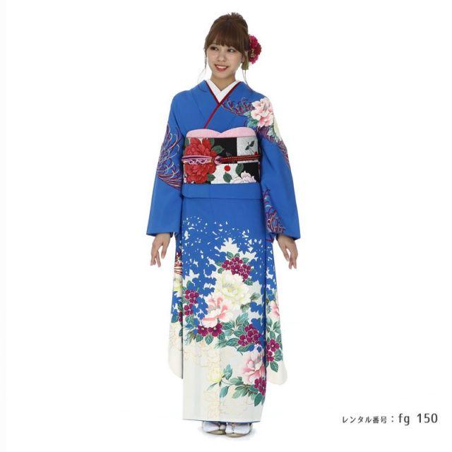 【結婚式・結納等用】振袖レンタル(fg_150)TM-10 牡丹