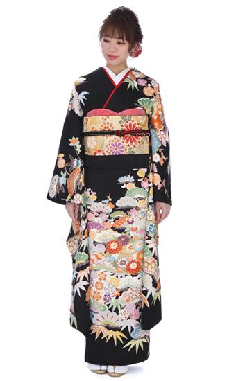 【結婚式・結納等用】振袖レンタル(fg_e)50659松カキツバタ