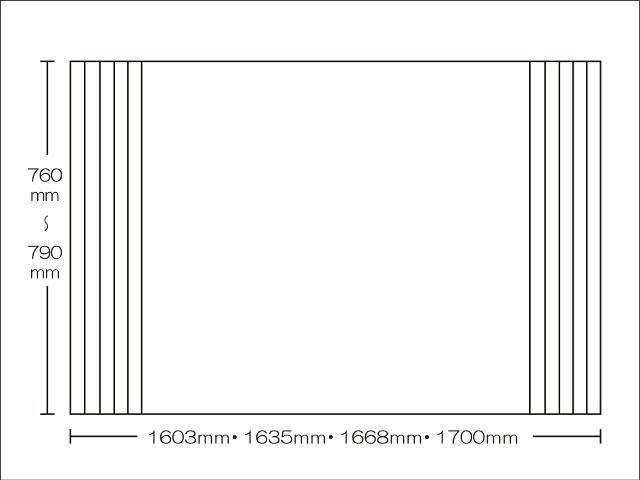 【送料無料】東プレ 純銀のチカラでお手入れ簡単!溝の奥まで丸洗い!オーダーAgイージーウェーブ760~790×1603・1635・1668・1700mm