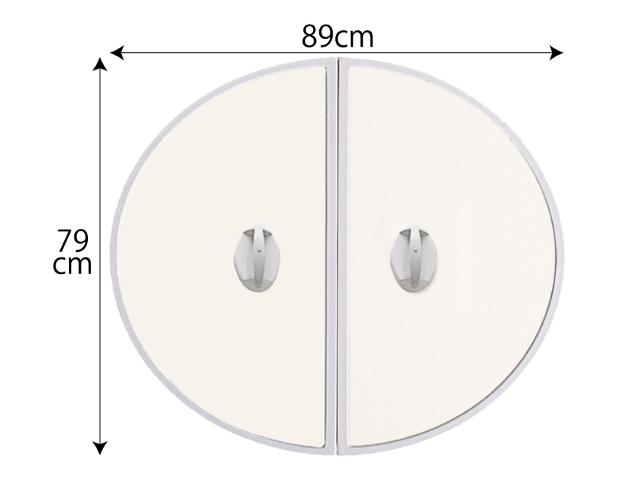 【送料無料】五右衛門風呂用 丸ふた 小判大B 79×89cm  19900010