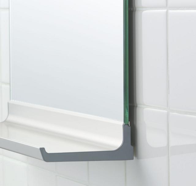 【日本製】今付いている板鏡が棚付鏡に変身!交換用鏡の棚 NS-305