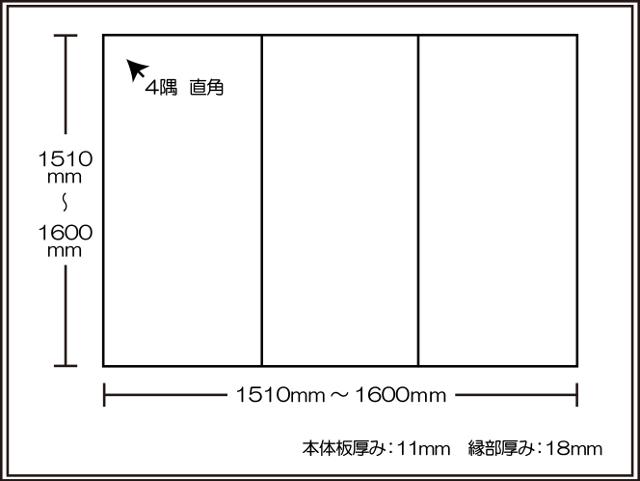 【日本製】寮や民宿などの大型浴槽のお風呂のふた ビックセーション1510~1600×1510~1600mm 3枚割