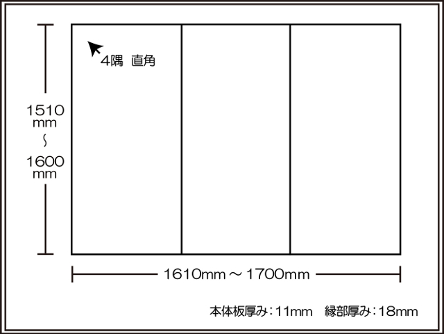 【日本製】寮や民宿などの大型浴槽のお風呂のふた ビックセーション1510~1600×1610~1700mm 3枚割