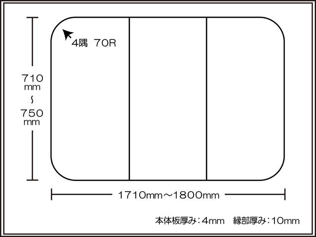 【送料無料】耐久性1番!セミオーダー組み合わせふた 710~750×1710~1800mm 3枚割