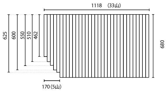 変形巻きふた 680mm×1118mm