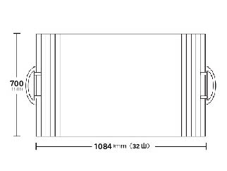取っ手付き巻きふた 700mm×1084mm